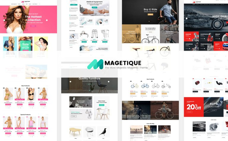 Magetique - The Most Comprehensive Multipurpose Magento 2 Theme Big Screenshot