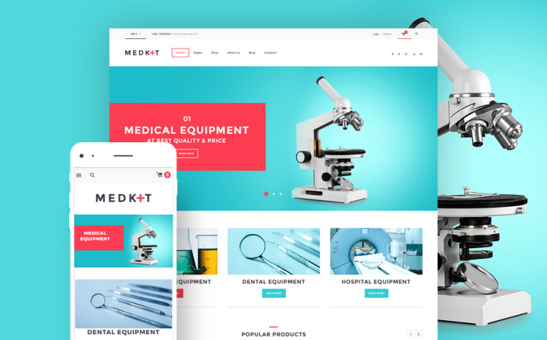 MedKit - Medical Equipment WooCommerce Theme New Screenshots BIG