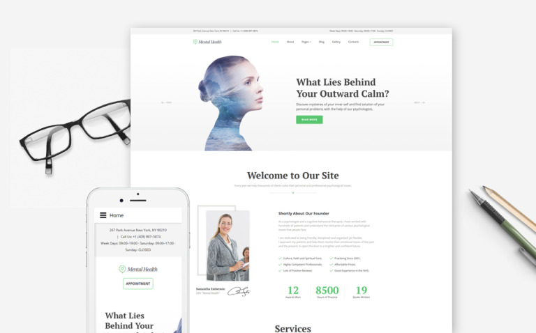 Mental Health - Psychotherapy Center Responsive Joomla Template New Screenshots BIG
