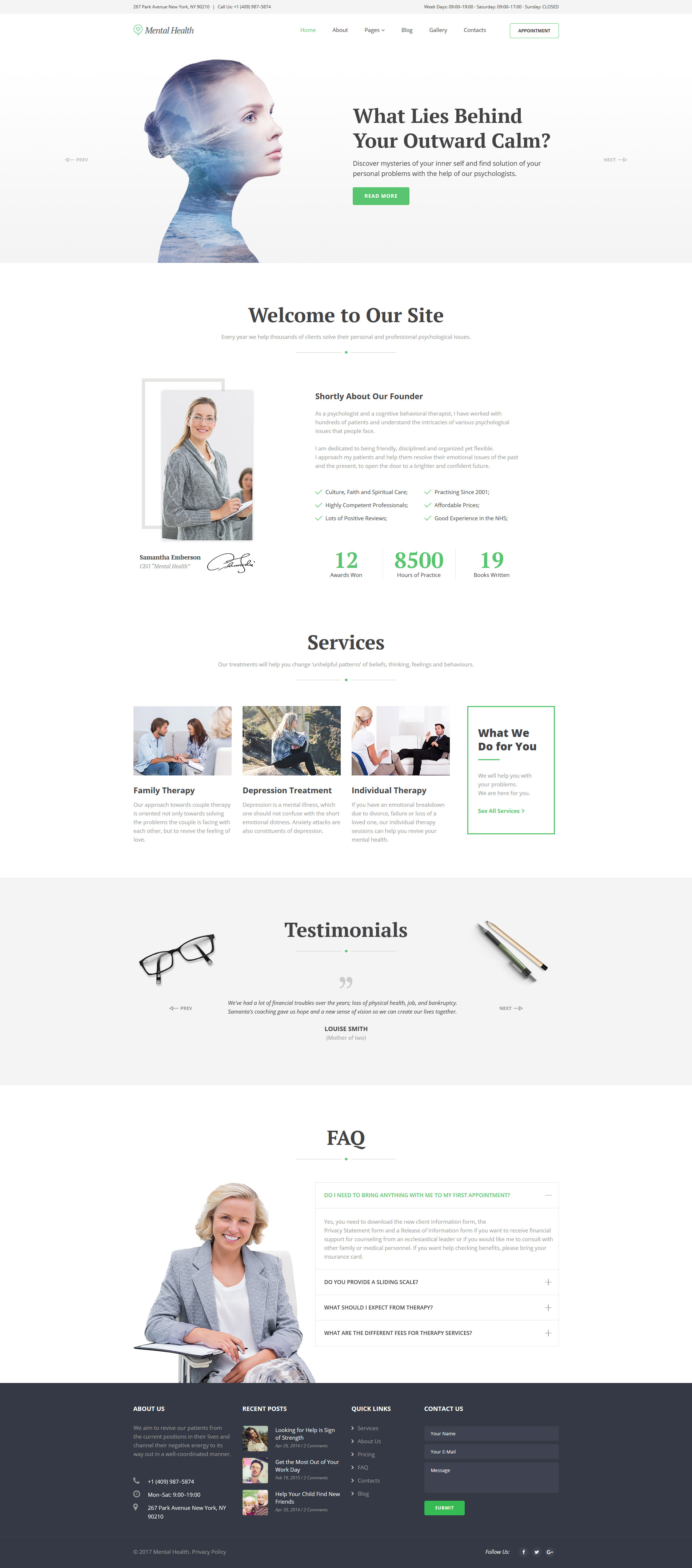 Mental Health - Psychotherapy Center Responsive Joomla Template