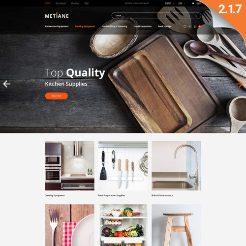 Metiane  - Magento Template based on Bootstrap
