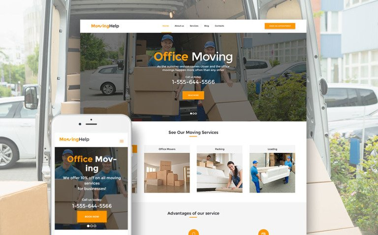 Moving Help - Logistic & Transportation WordPress Theme New Screenshots BIG