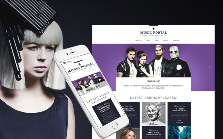 Music Portal Responsive Joomla Template New Screenshots BIG