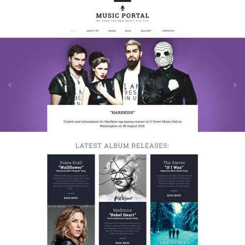 Music Portal - Responsive Joomla! Template