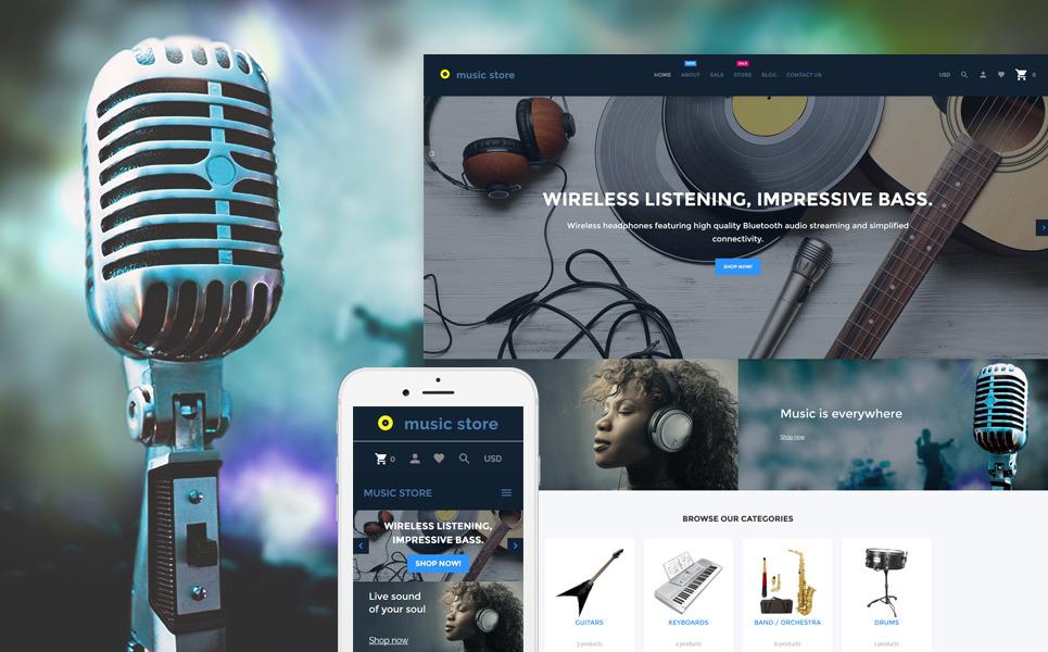 Music Store - Audio & Music Store Shopify Theme New Screenshots BIG