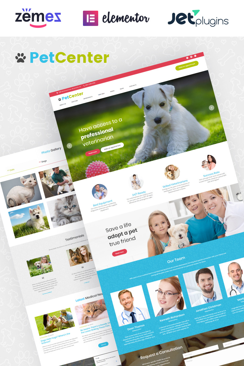 PetCenter - Animals & Pets Responsive WordPress Theme New Screenshots BIG