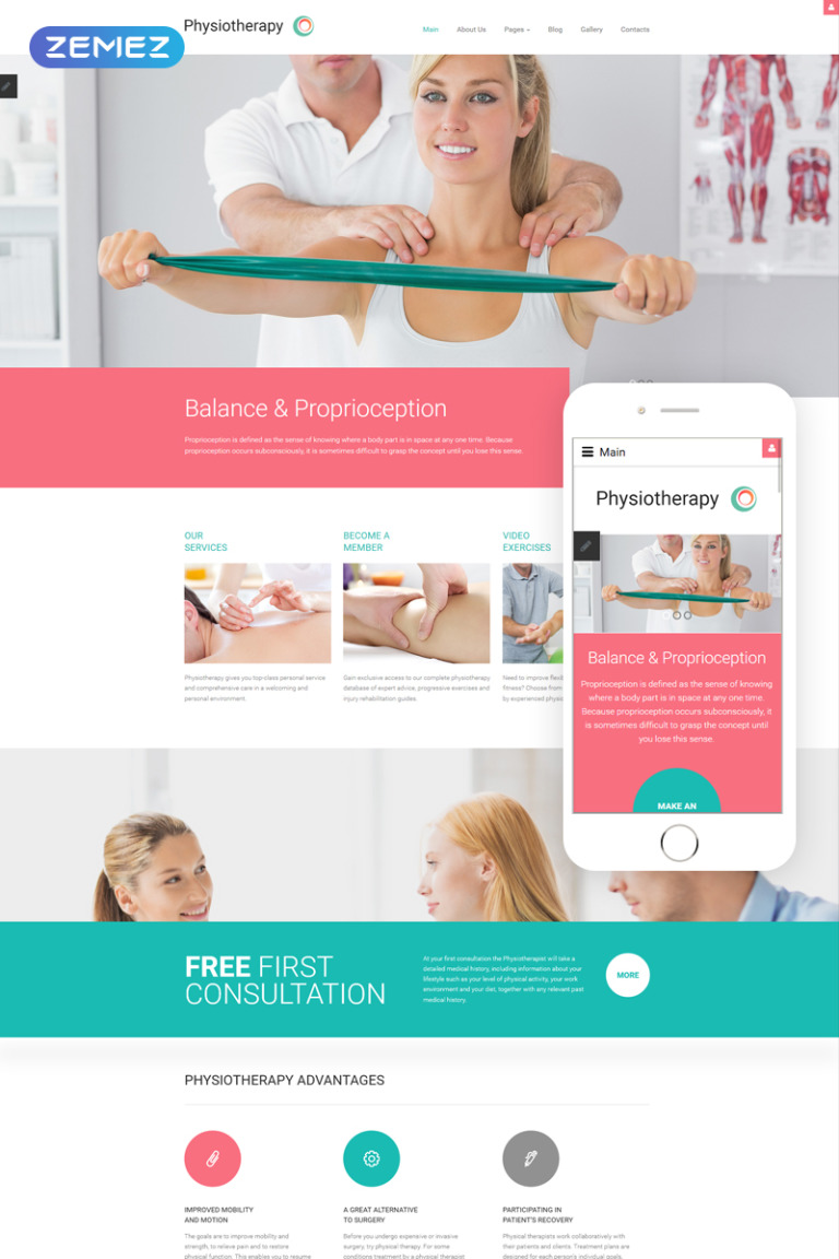 Physiotherapy - Medical Treatment Joomla Template New Screenshots BIG