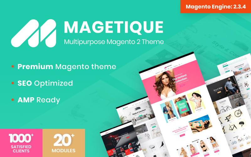 Responsivt Magetique - Multifunktionell Magento-tema #62000