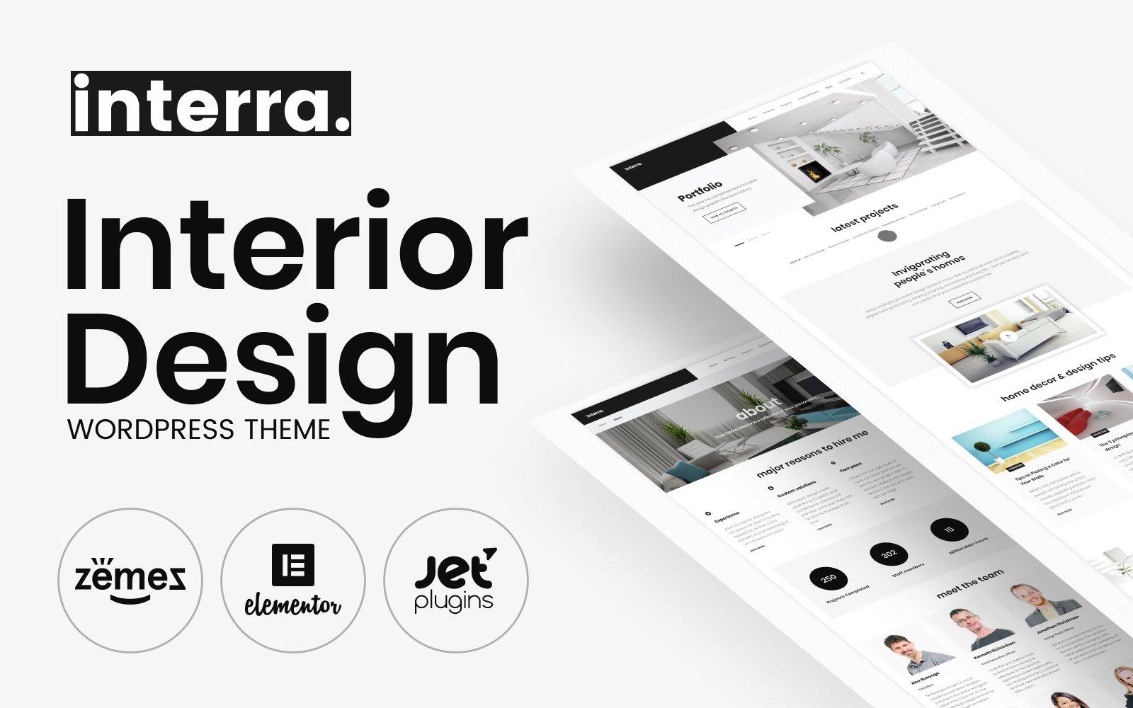 Responsywny motyw WordPress Interra - Interior Designer Portfolio #62042