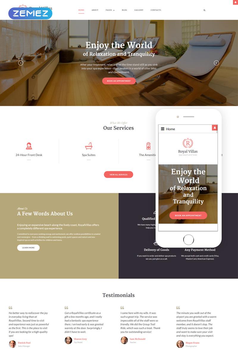 Responsywny szablon Joomla Royal Villas - Spa i Hotel #62072 - zrzut ekranu