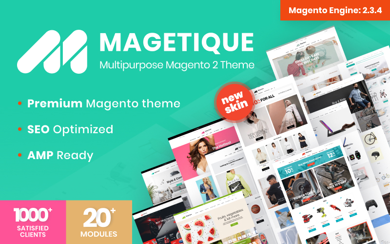 Reszponzív Magetique egy többcélú Magento sablon 62000