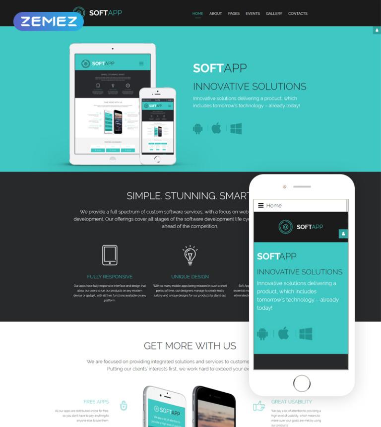 SoftApp - Software Company Responsive Joomla Template