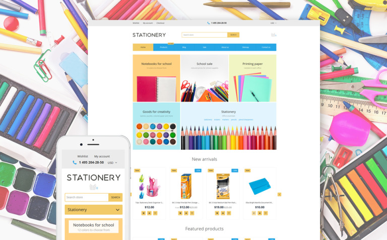 Stationery - Stationery Store Responsive Shopify Theme New Screenshots BIG