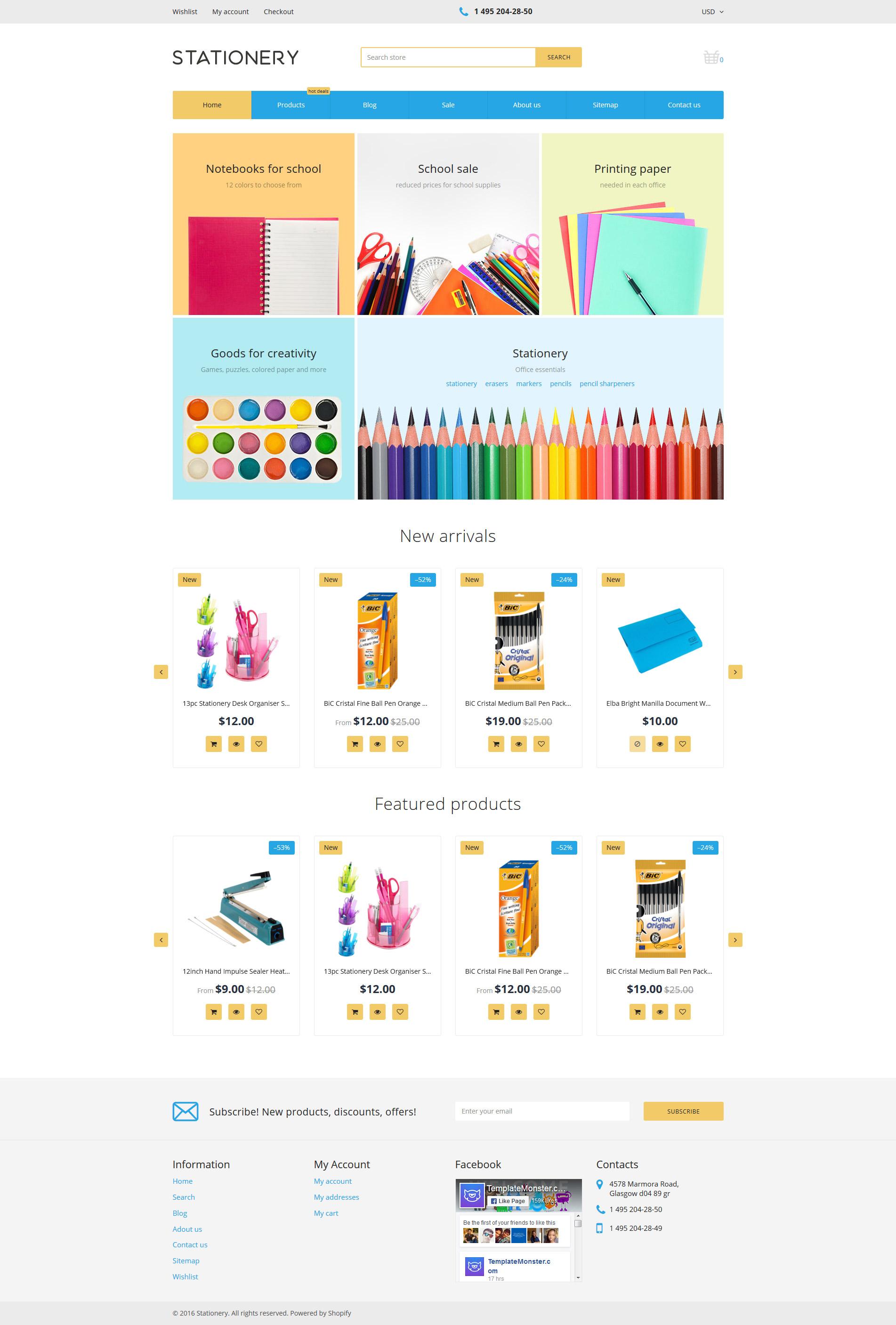 Stationery - Stationery Store Responsive Shopify Theme