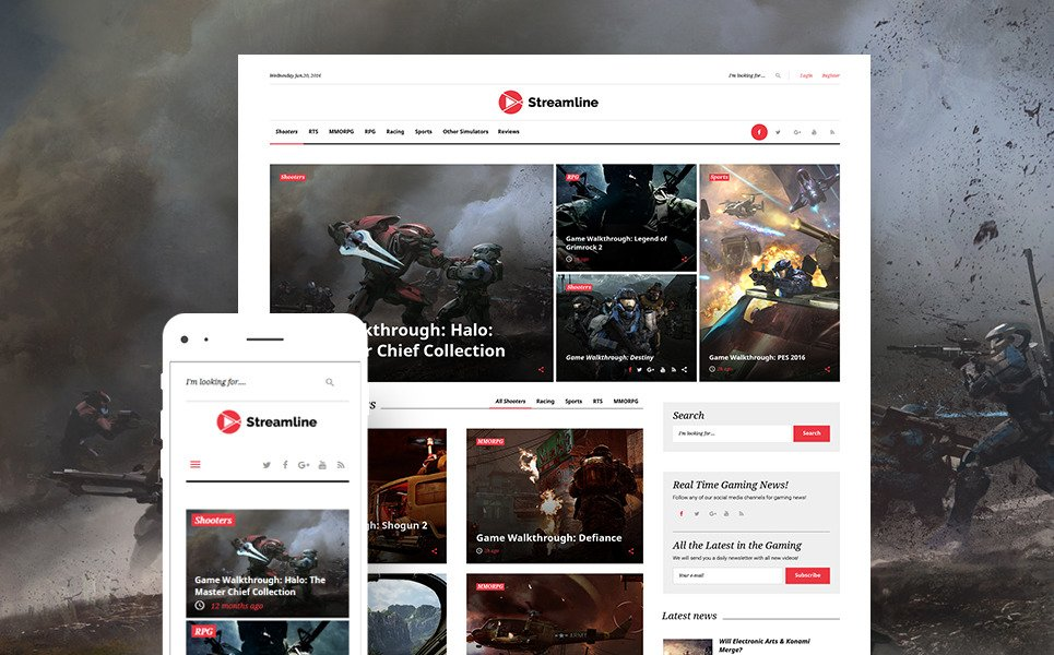 Streamline - Video Streamer WordPress Theme New Screenshots BIG