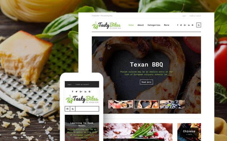 TastyBites - Recipe & Food Blog WordPress Theme New Screenshots BIG