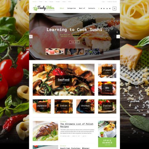 Tastybites  - Responsive WordPress Template