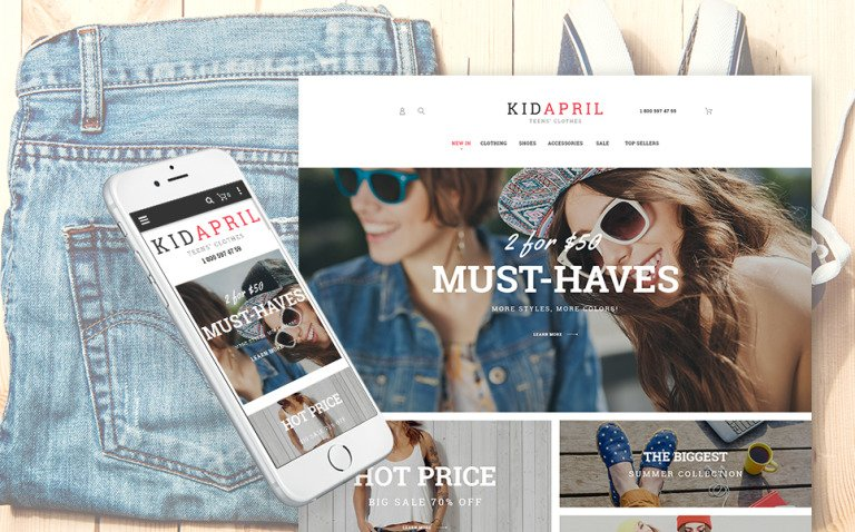 Teen's Clothes & Fashion Magento Theme New Screenshots BIG