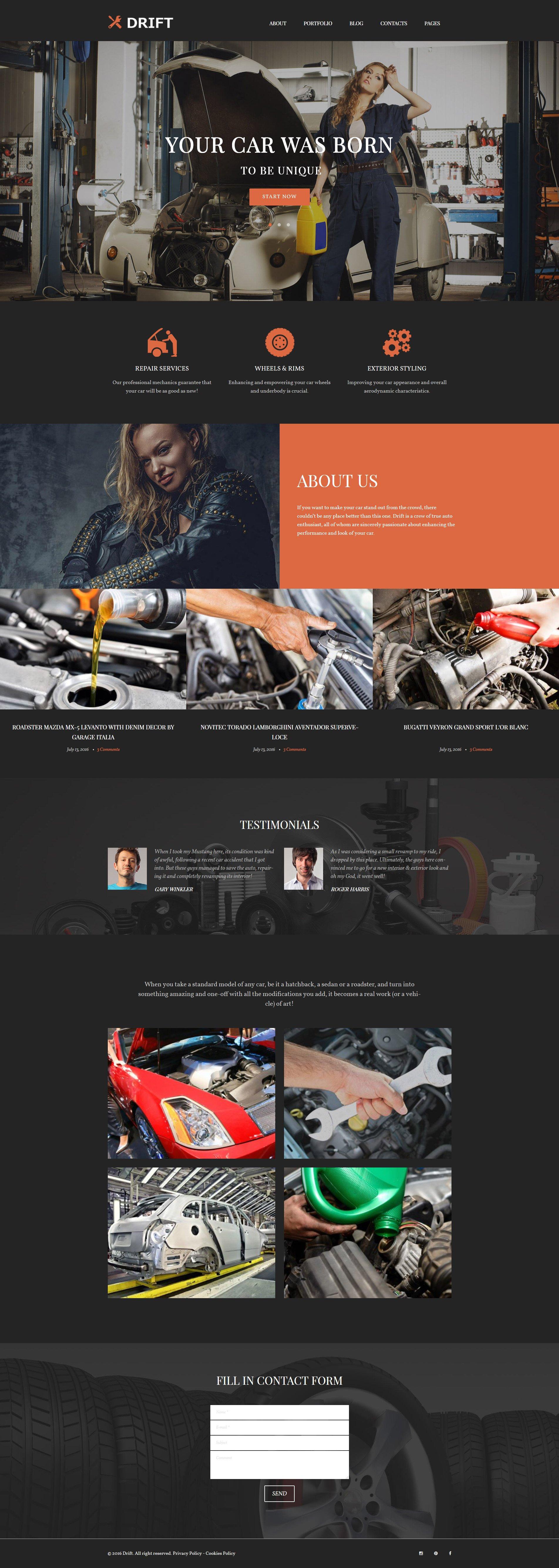 "Tema De WordPress ""Drift"" #62022"
