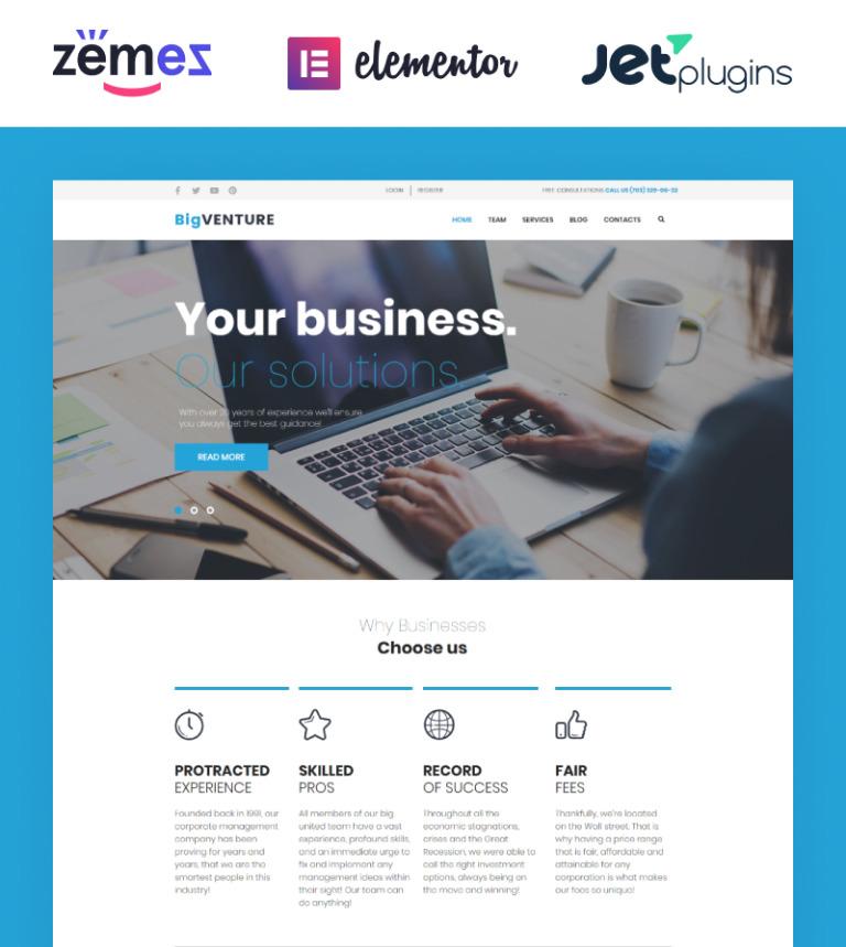 Tema de WordPress #62027 para Sitio de Consultoría
