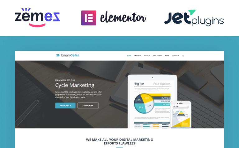 Tema de WordPress #62041 para Sitio de SEO