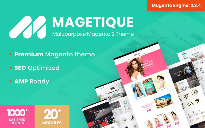 """Tema Magento """"Magetique - Tema Polivalente"""" #62000"""