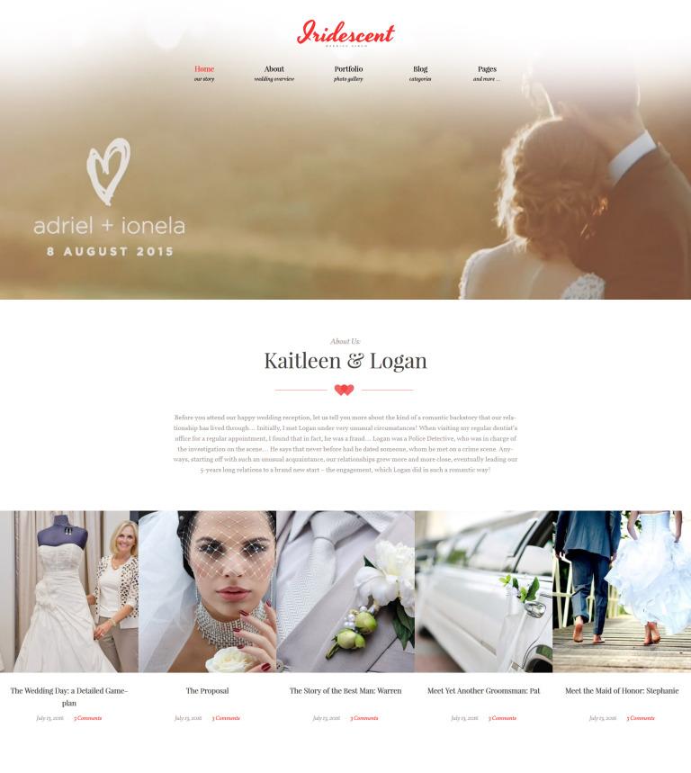 Tema WordPress Flexível para Sites de Album de Casamento №62018