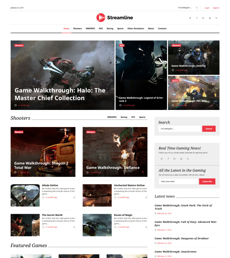 Tema WordPress Flexível para Sites de Galeria de Vídeos №62037
