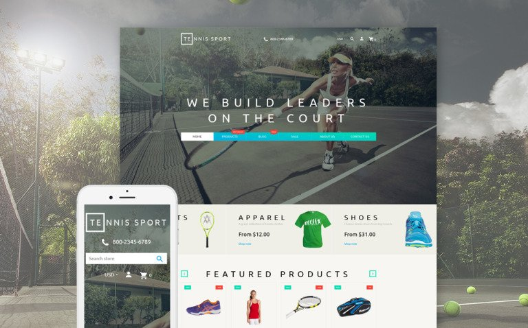 Tennis Sport - Sport Clothes & Tennis Supplies Shopify Theme New Screenshots BIG
