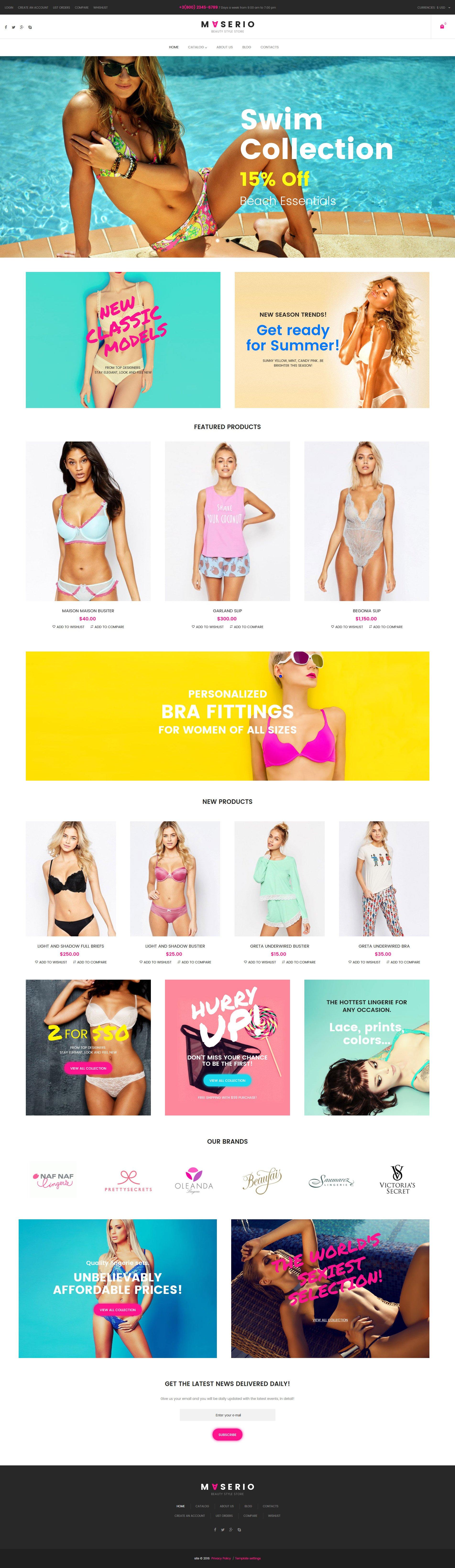 Thème VirtueMart pour magasin de lingerie #62061 - screenshot