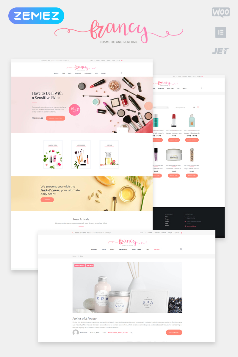 """Tm Francy"" Responsive WooCommerce Thema №62048"