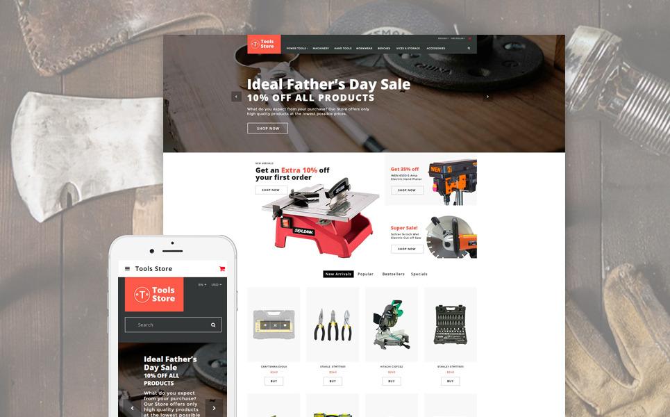 Tools Store - Building Tools & Handyman Supplies OpenCart Template New Screenshots BIG
