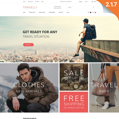 Travelli - Magento Template based on Bootstrap