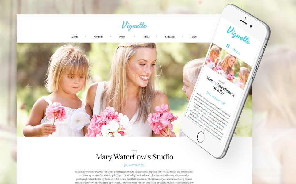 Vignette - Family Photographer & Portfolio WordPress Theme New Screenshots BIG