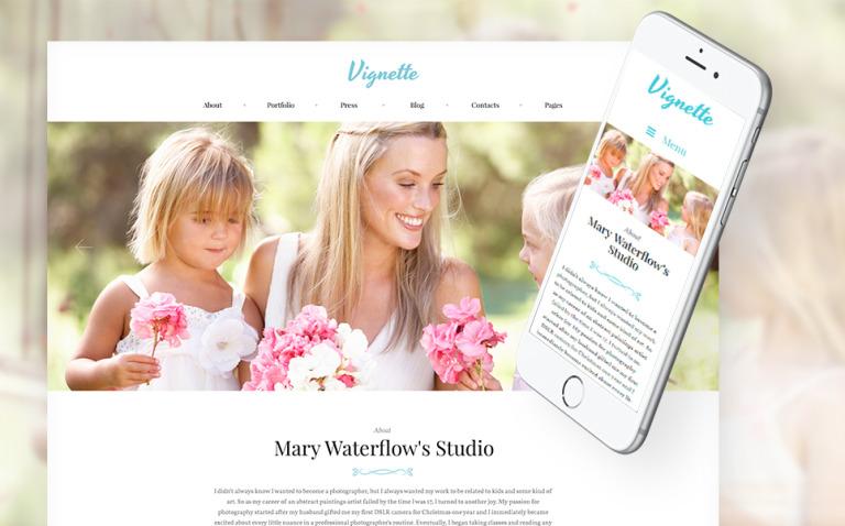 Vignette - Family Photographer & Portfolio WordPress Theme New Screenshots BIG