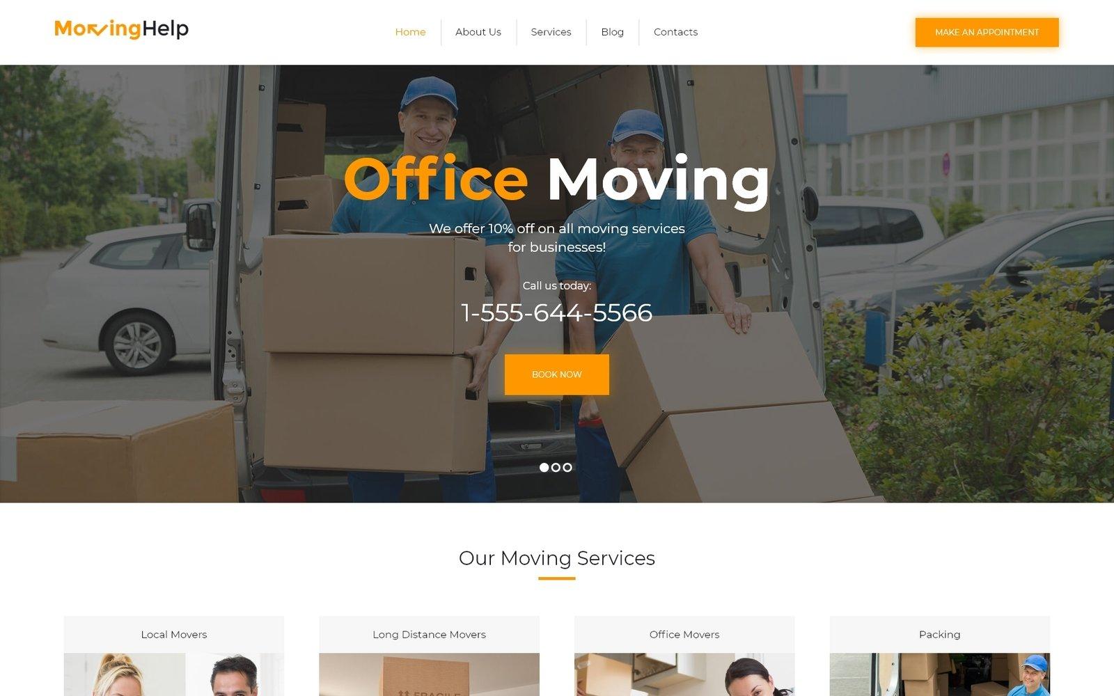 Шаблон Moving Help для сайта транспортной компании #62032