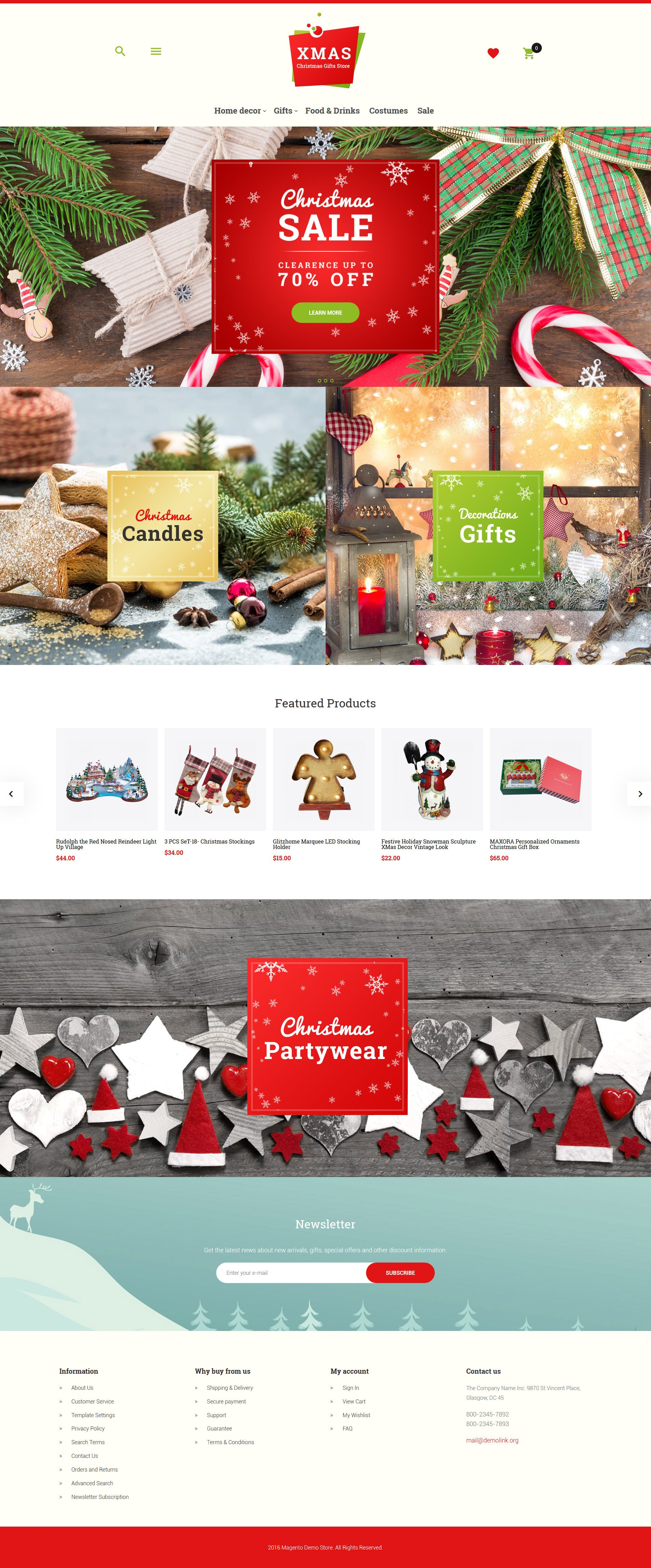 Xmas - Christmas Gifts Store Responsive Magento Theme - screenshot