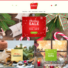 Bootstrap Holidays, Gifts & Flowers Magento Themes
