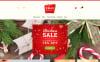 """Xmas - Christmas Gifts Store Responsive"" Responsive Magento Thema New Screenshots BIG"