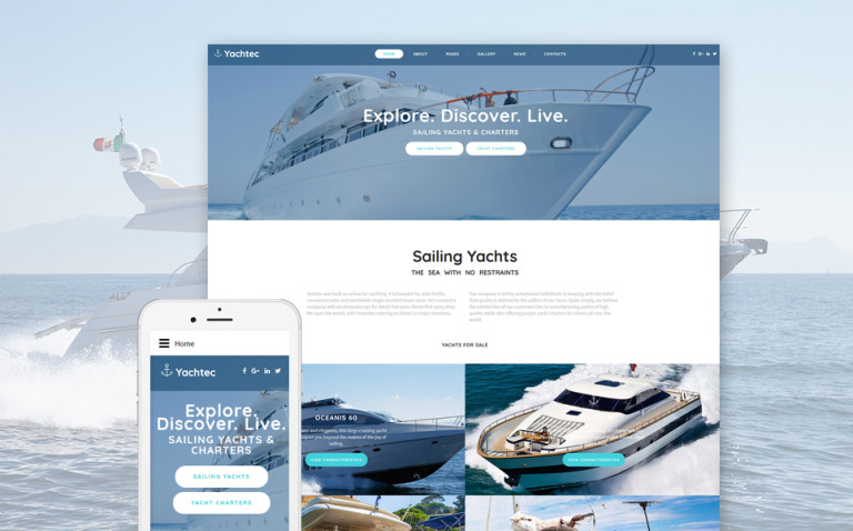 YachTec - Sailing Yachts & Charters Responsive Joomla Template New Screenshots BIG