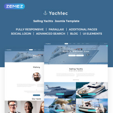 Yachting templates templatemonster yachtec sailing yachts charters responsive toneelgroepblik Images