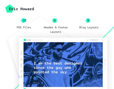 Eric Howard - Web Designer Portfolio Multipage Website Template