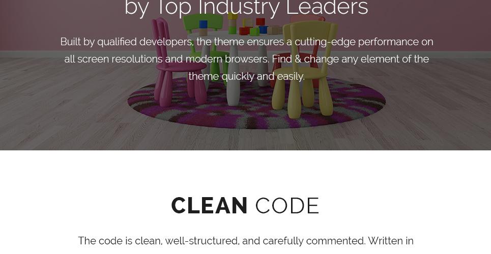 Tema de WordPress #62115 para Sitio de Guarderías