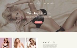 LS - Fashion Lingerie Shop Responsive Multipage Website Template