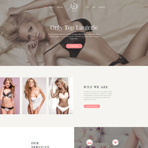 Screenshot of Lingerie Store Boutique Online Shop Fashion Brand Company Women