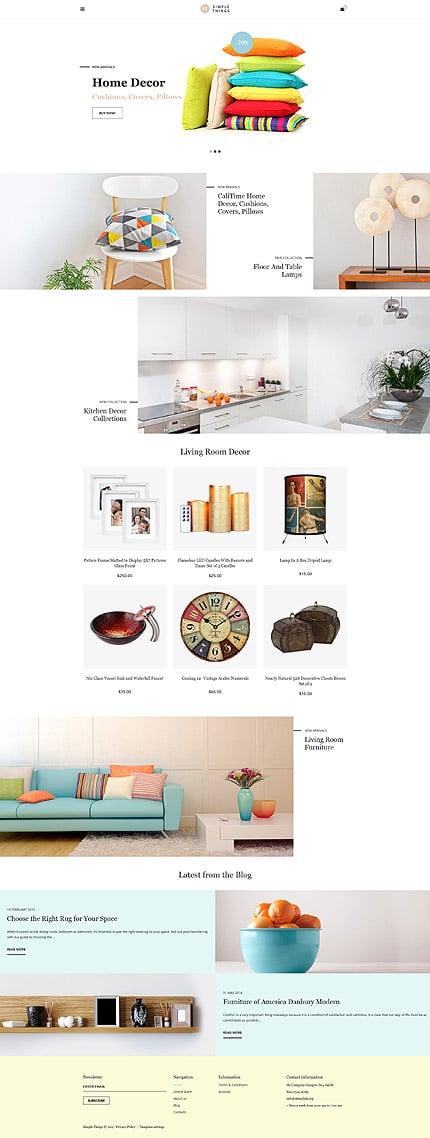 Шаблон интернет магазина домашнего декора - Simple Things