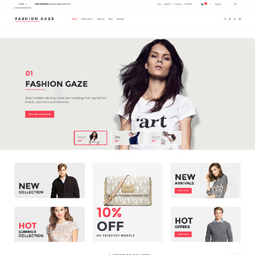 Preview image of Fashion VirtueMart Template No. 62132
