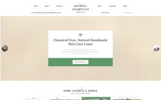 Natural Cosmetics - Cosmetics Store Multipage Website Template
