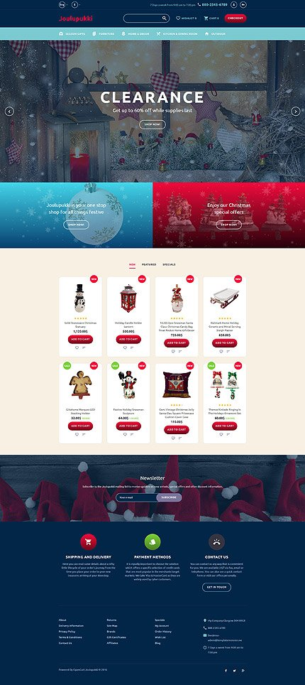 Custom Website Design Template #62134 -  joulupukki christmas lights new year holiday