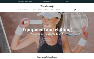 Tennis Shop VirtueMart Template